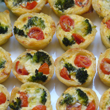 Broccoli-Tomaten-Quiches