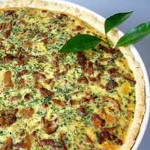 Pfifferlings-Quiche
